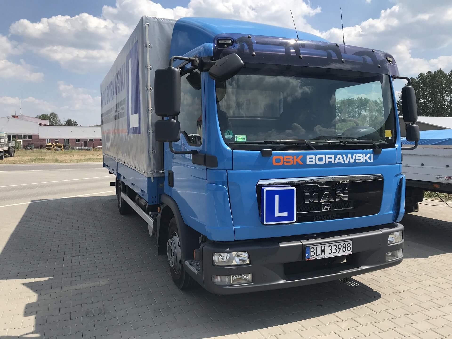 osk borawki nauka jazdy ciężarówki
