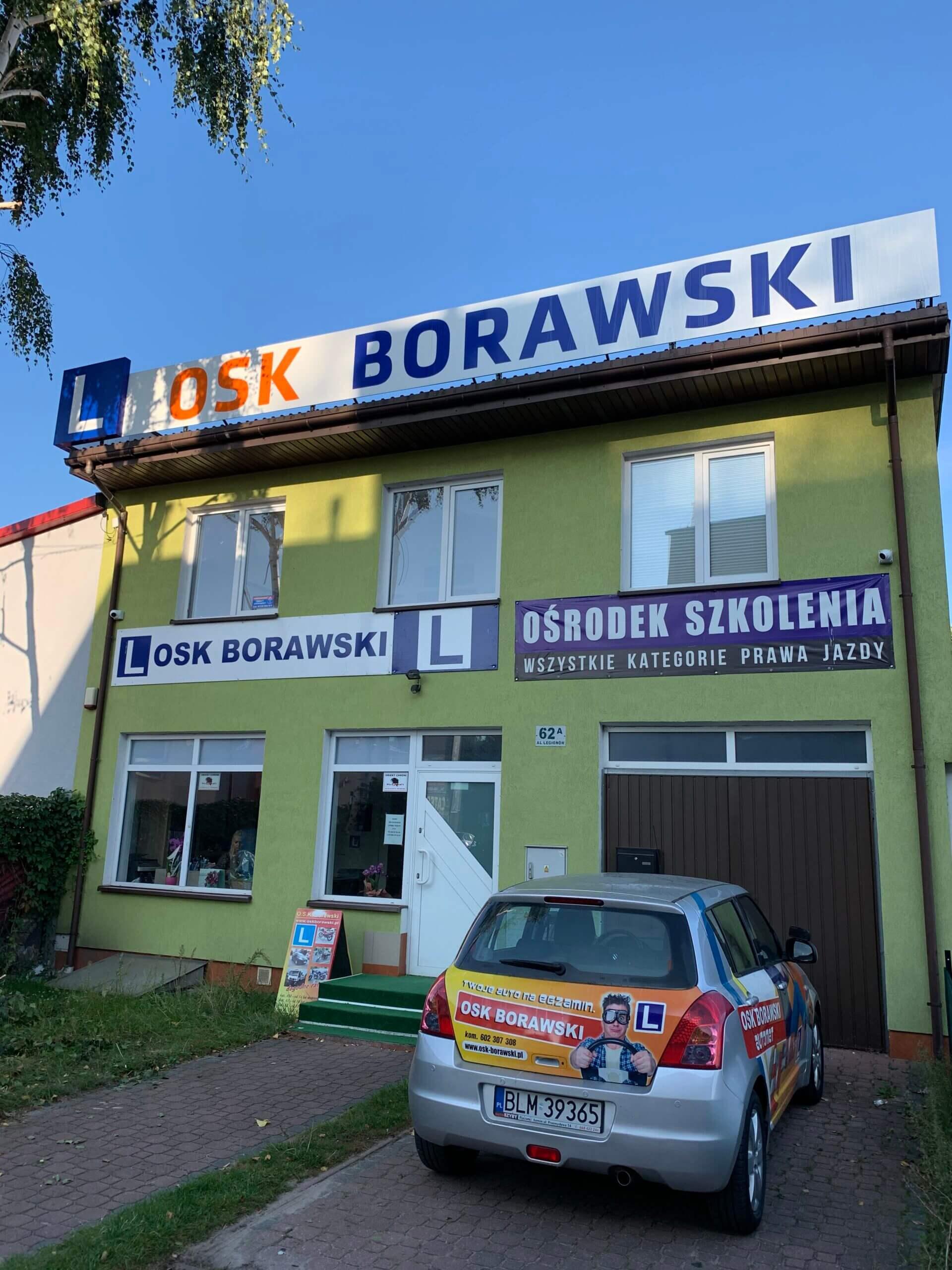budynek szkoły jazdy osk borawski